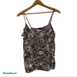 American Eagle Outfitters V-Neck Crop Tank